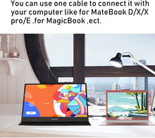 Load image into Gallery viewer, WIMAXIT M1562C 15.6 Inches Portable USB-C Gaming Monitor, 1080p Full HD IPS External Screen with Type-C Mini HDMI for Laptop PC Nokia 9 Pureview, Xbox PS4 Switch Indoor - Wimaxit Official Store