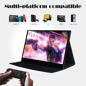 WIMAXIT Monitor M1560CTV2-Touch-Slim-IPS-HD 1920 x 1080 16: 9 display HDMI / 2-Type-C interface (USB C) / built-in speaker VESA holder for laptop gaming work monitor - Wimaxit Official Store