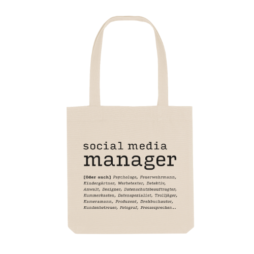 Social Media Manager oder auch... Stoffbeutel
