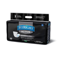 Load image into Gallery viewer, FitRight Active Guards for Men Incontinence Liners, 4 Packs of 52, 208 Total Count