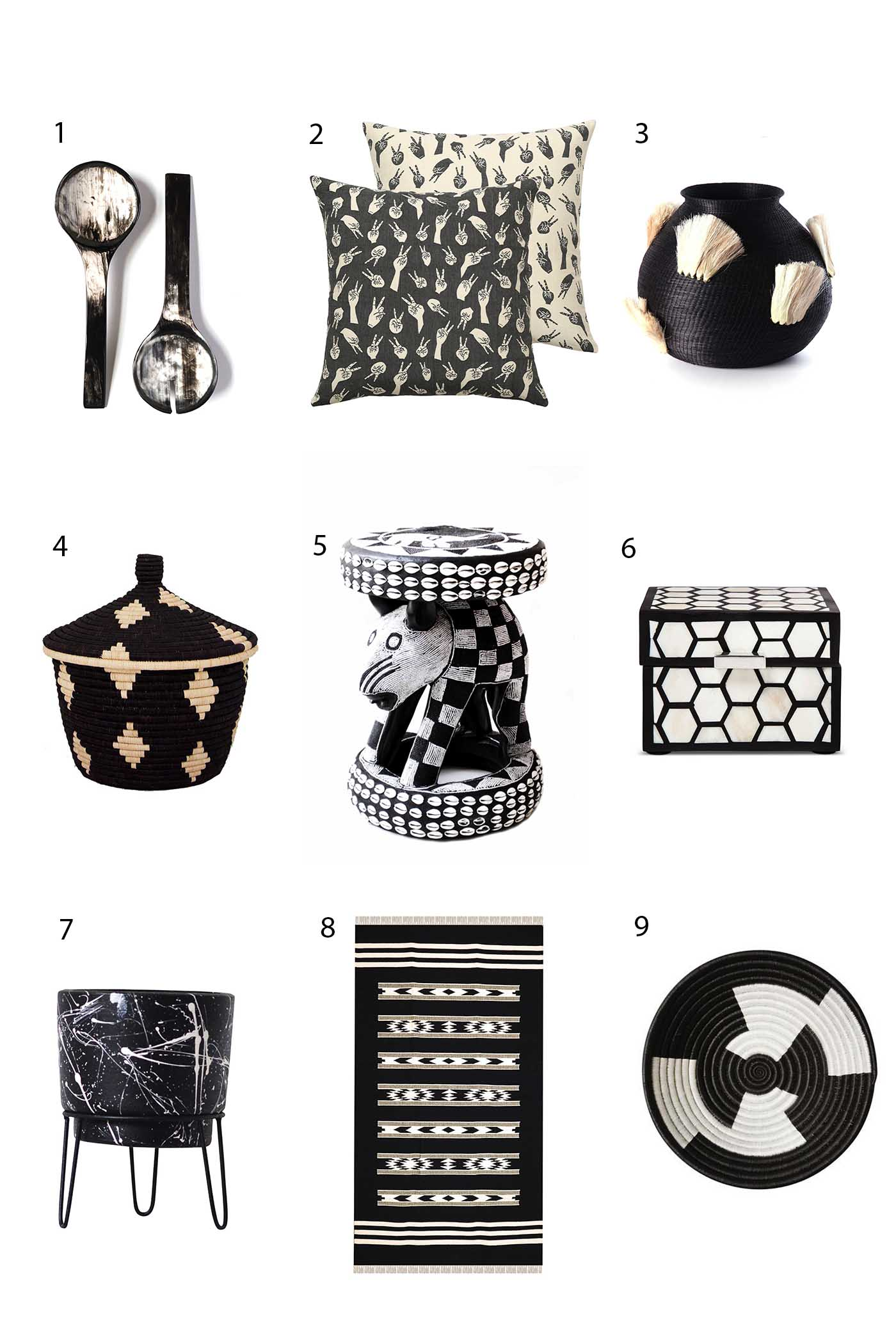 Black & white home decor Accompany