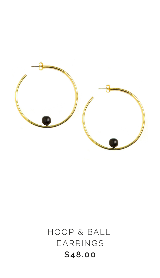 Soko HOOP & BALL EARRINGS - $48.00
