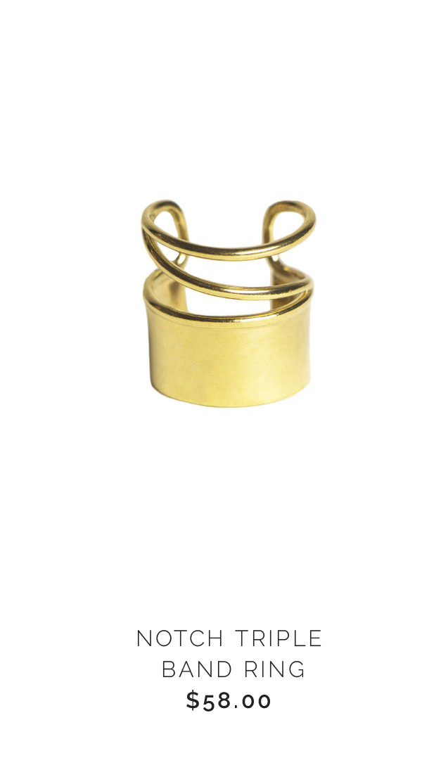 Soko NOTCH TRIPLE BAND RING - $58.00