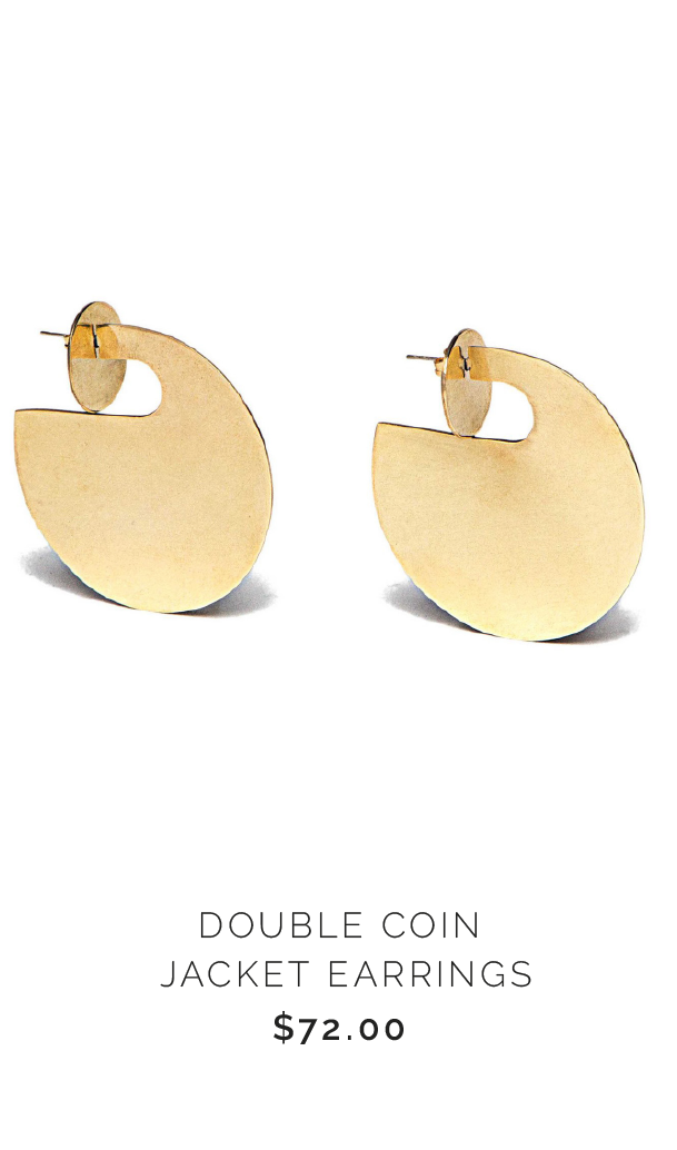 SOKO DOUBLE COIN JACKET EARRINGS - $72.00