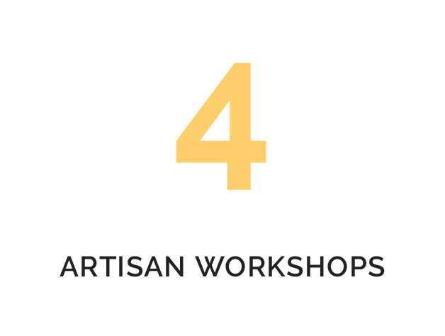 4 ARTISAN WORKSHOPS
