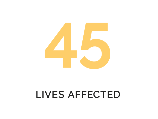 45 LIVES AFFECTED