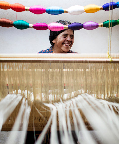 Grinning through the loom.