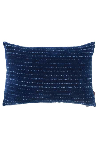 Indigo Velvet Lumbar Pillow Cover