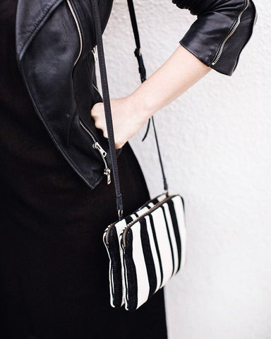 Andrea Stripe Crossbody Bag