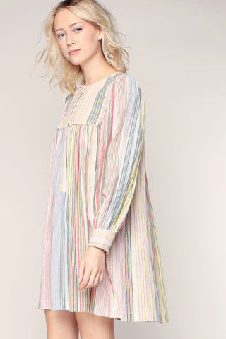 Casey Stripe Shirtdress