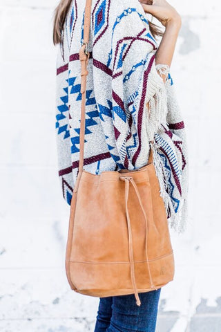 Tadesse Cognac Bucket Bag