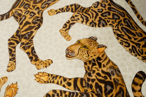 Cheetah Kings Velvet Stone Pillow