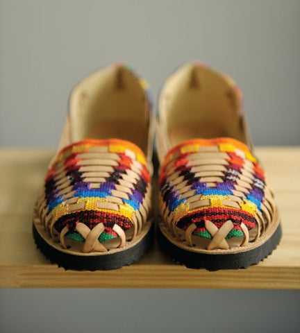 Traditional Mayan Woven Leather Huarache Sandals