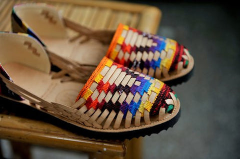 Woven Leather Huarache Sandals
