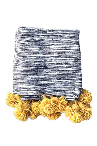 Assia Heather Pom Pom Throw