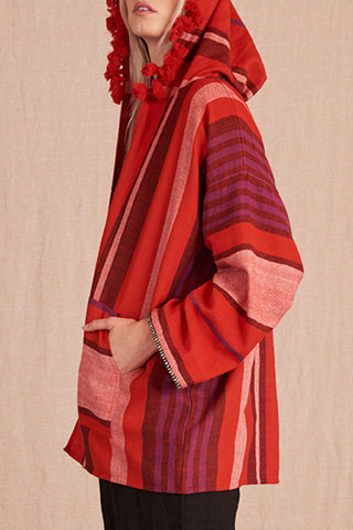 Jua Handwoven Hooded Cover-Up