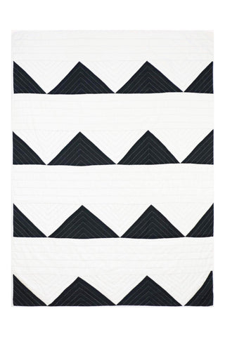 Triangle Charcoal Quilt Throw