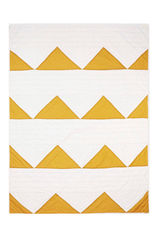 Triangle Mustard Quilt Throw