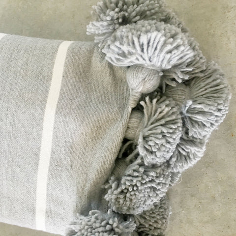 Assia Grey Stripe Throw