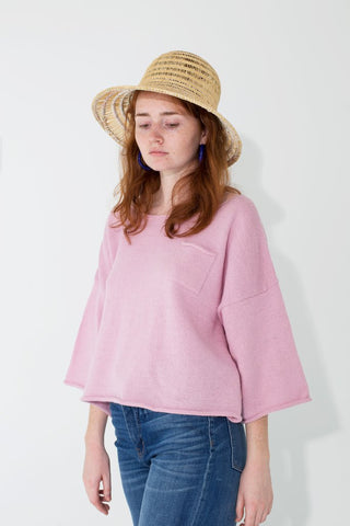 Knit Huipile Orchid Top
