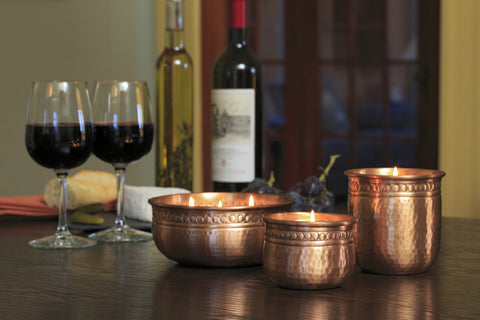 Akkadian Copper Candle Collection