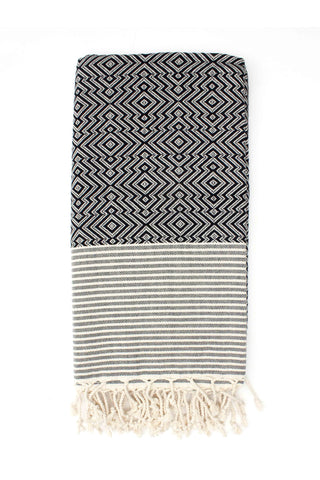 Inca Black Hammam Towel