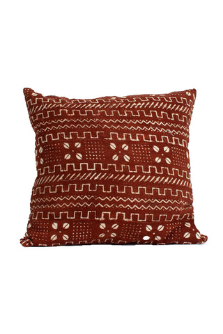Tobacco Mudcloth Cushion Cover
