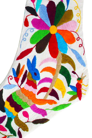 Otomi Embroidered Stocking