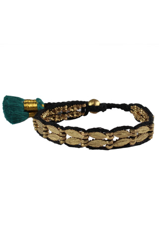 Chandi Black & Teal Bracelet