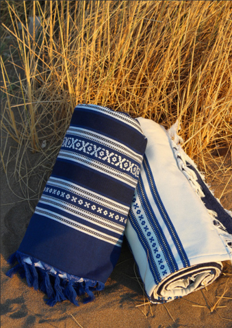 Plaka Blue Striped Towel