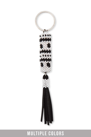 Beaded Tassel Key Fob