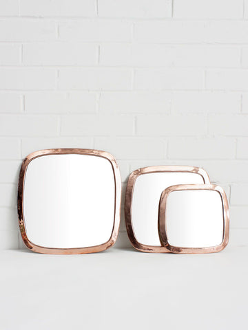 Moroccan Rounded Square Mirror
