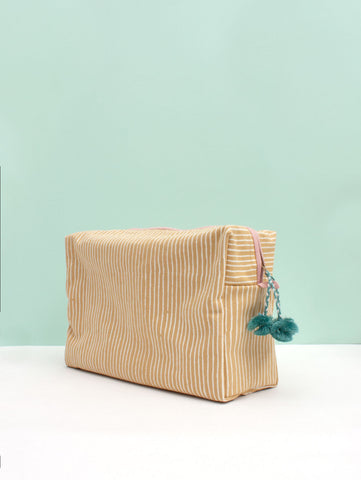 Stripe Yellow Wash Bag