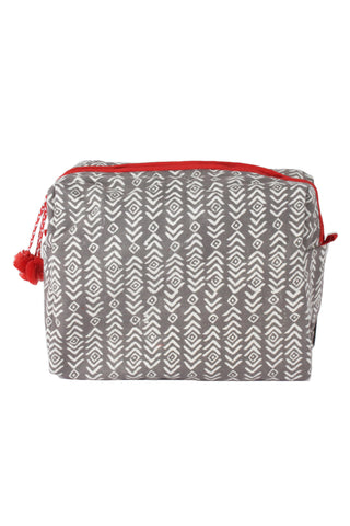 Charcoal Aztec Wash Bag