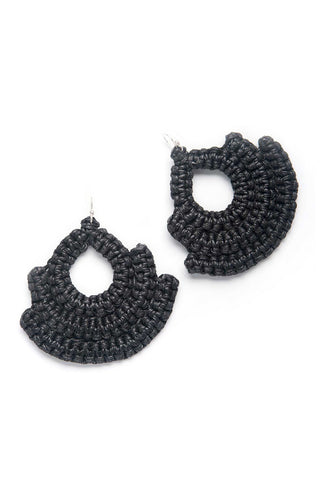 Guerrera Black Earring
