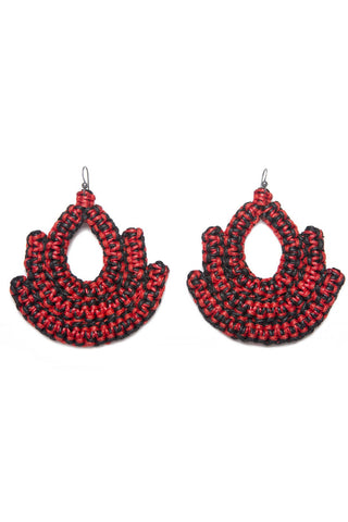 Guerrera Red & Black Earring