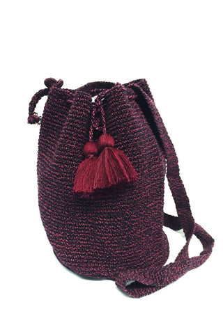 Cabernet Crocheted Bucket Bag