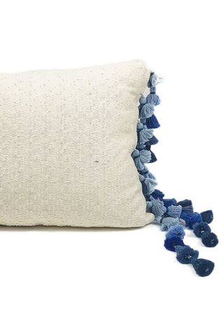 Sky View Tassel Lumbar Pillow