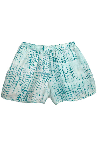 Teal Tread Batik Track Shorts