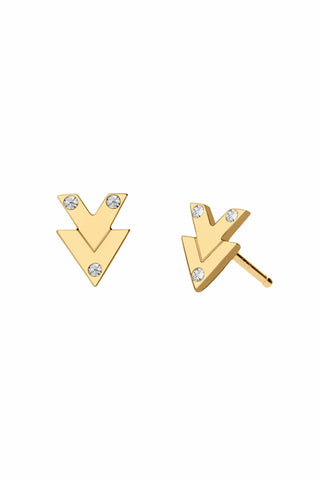 Micro Arrow Vermeil Stud Earrings
