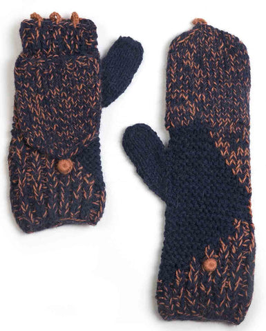 Wall Midnight & Peach Flip Top Mittens
