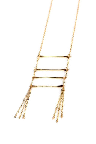 Ladder Tassel Necklace