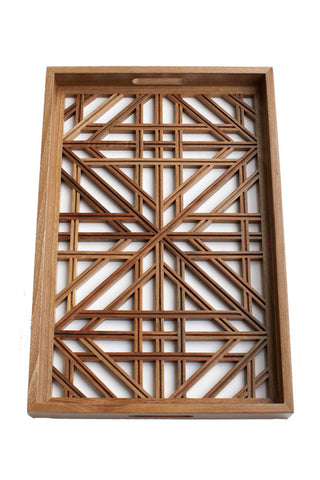 "Walnut Jali ""Lattice"" Tray"