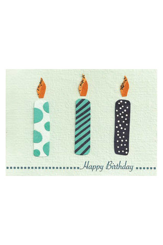 Three Candles Birthday Card