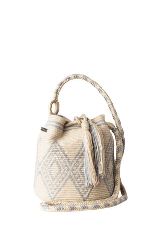 Stone Mini Wayuu Mochila Bag
