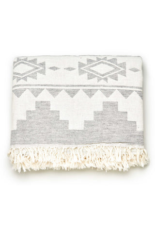 Grey Kilim Throw