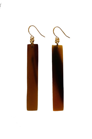 Tinh Buffalo Horn Bar Earrings