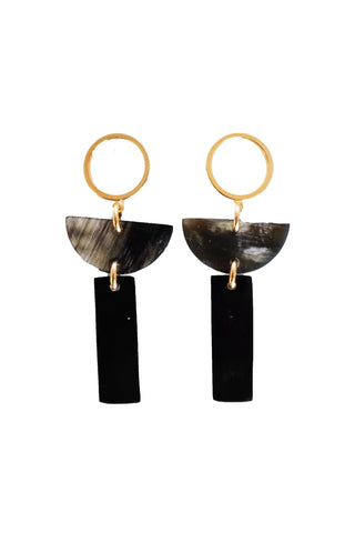 Con Dao II Geo Horn Earrings