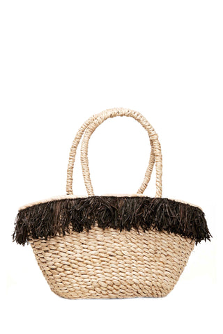 Frieda Woven Fringe Mini Bag