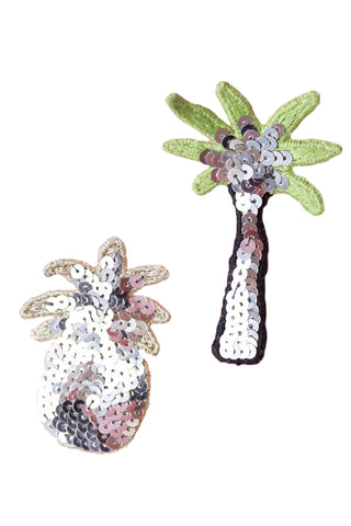 Embroidered Sequin Pin